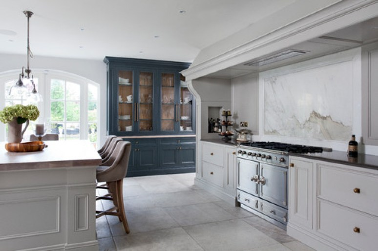 Farrow and Ball Purbeck and Downpipe Kitchen Cabinets