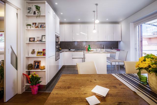 La sala da pranzo sempre più spesso fa parte della zona cucina quindi è. 10 Cucine Italiane Che Scelgono L Open Space