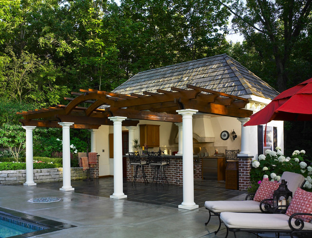 Cabana for outdoor entertaining - Contemporary - Pool ... on Cabana Designs Ideas id=43981