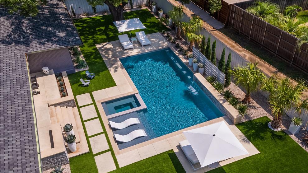 North Dallas Modern Backyard - Modern - Pool - Dallas - by ... on Modern Backyard Ideas With Pool id=56837