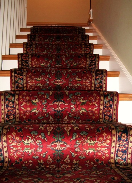 Traditional Hand Knotted Stairway Runner Traditional Staircase Philadelphia By Brandon