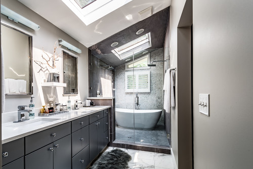 The Best Flooring for Wet Rooms and Curbless Showers on Wet Room With Freestanding Tub  id=71492