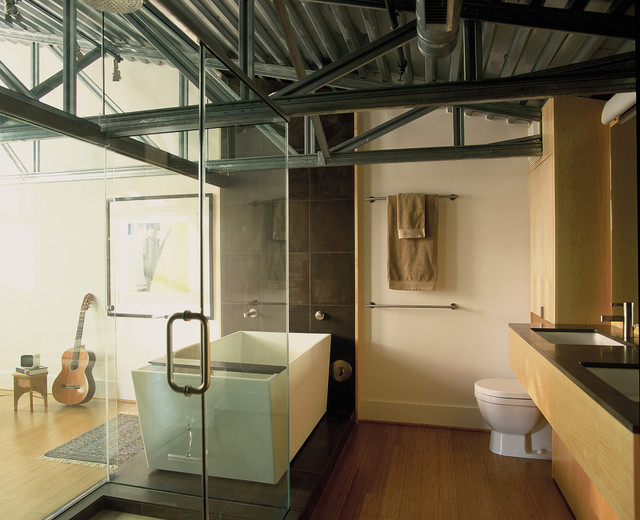 Inspiration For A Contemporary Freestanding Bathtub Remodel In Dc Metro