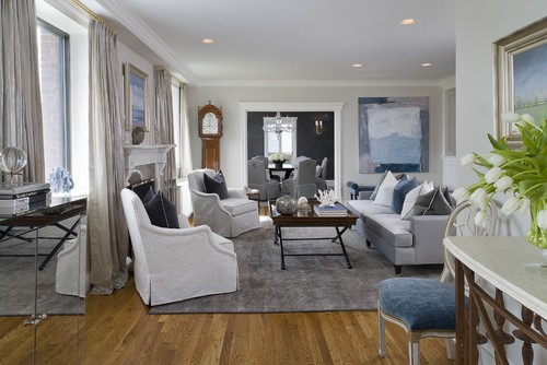 Neutral white and gray living room (Intense White)