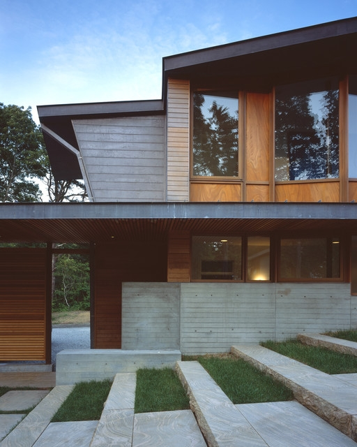 Steps And Stairs Elevate Modern Exterior Entryways | House Entrance Steps Designs | Contemporary | Side Entrance | House Main Gate Roof | Duplex House | Ultra Modern Modern Front