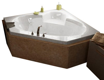Atlantis Whirlpools Sublime 60x60 Corner Soaking Bathtub Transitional Bathtubs By Luxury