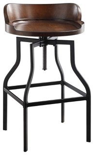 Marais Adjustable Stool, Chestnut and Black