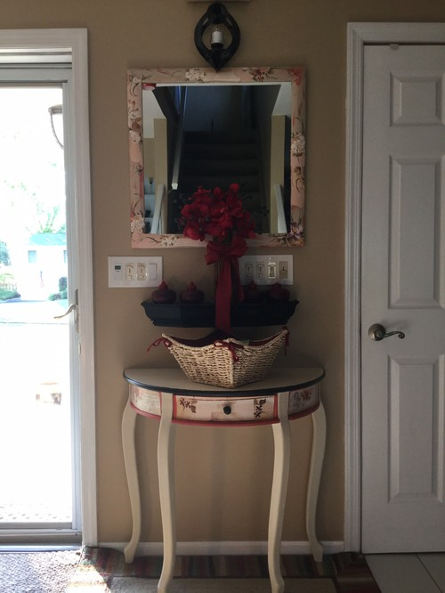 Redo Front Door And Entry Table With Mirror
