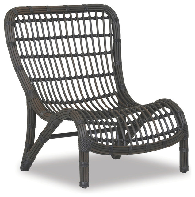 venice armless club chair