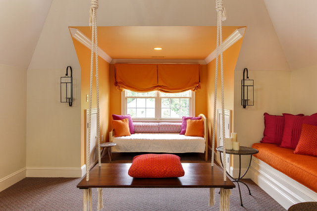 Gathering Room With Indian Swing Transitional Family