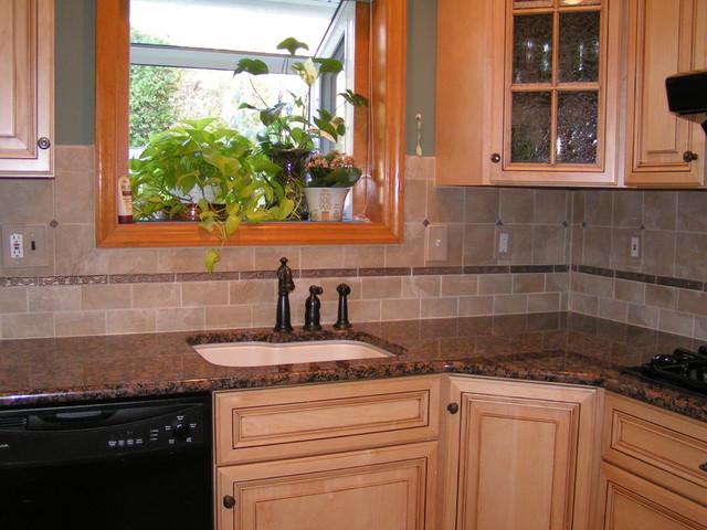 Baltic Brown Granite & Tile Backsplash on Granite Stove Backsplash  id=54061