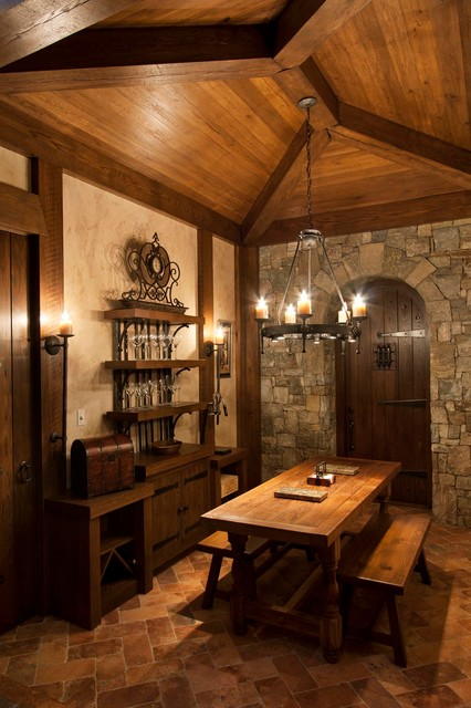 Walnut Cove Chateau Rustic Wine Cellar Other Metro