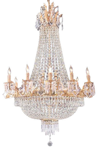 Top The Gallery French Empire Crystal Chandelier Chandeliers Houzz With