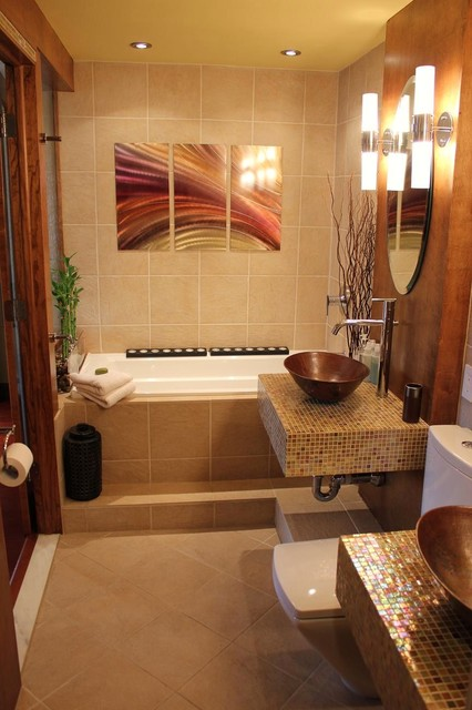 Spa Like Master Bathroom Asian Bathroom Boston By CHIC Redesign