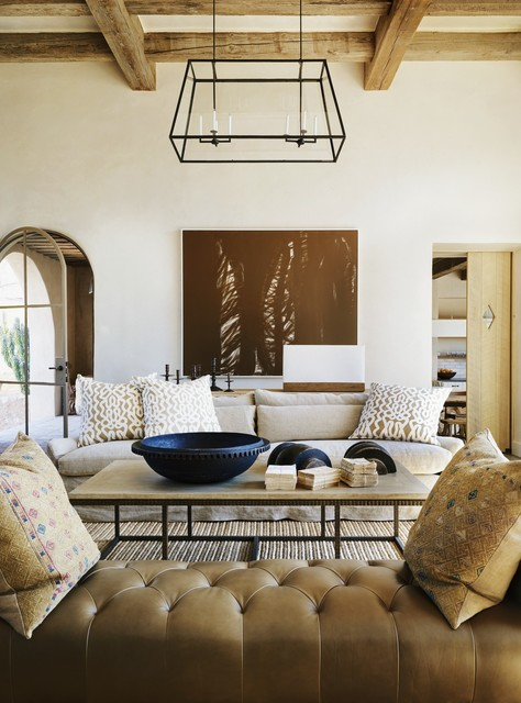 Rustic Eclectic Farmhouse Mediterranean Living Room