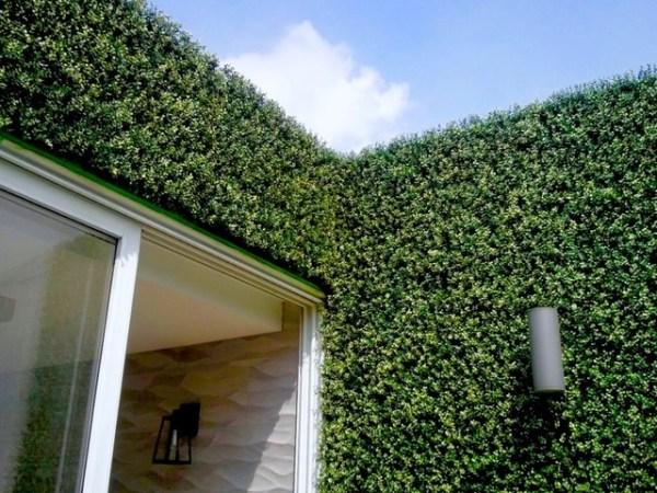 vertical garden wall panel Vertical Garden Wall | Artificial Hedge Panels - Modern