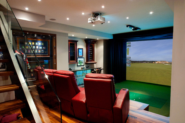 Hd Golf Simulators Traditional Home Theater Toronto