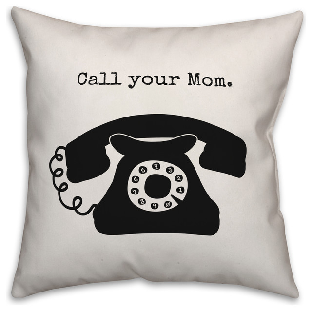 call your mom 16x16 throw pillow
