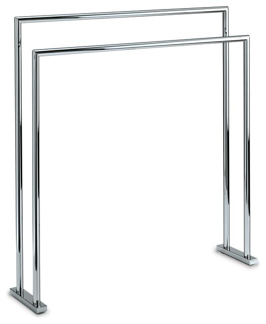 dwba standing towel bathroom rack stand bar 27 5 towel holder chrome 2