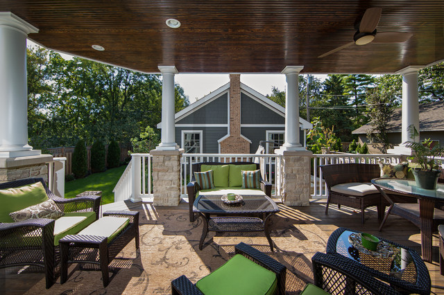 Outdoor Living Space With Covered Patio Fireplace ... on Outdoor Living And Patio id=44505