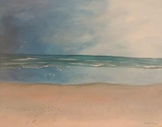 """A Beach for Wandering #3"" Original Artwork by Toby Jones"