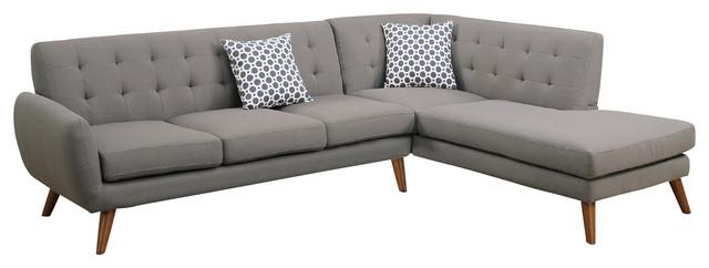 modern retro sectional sofa taupe gray