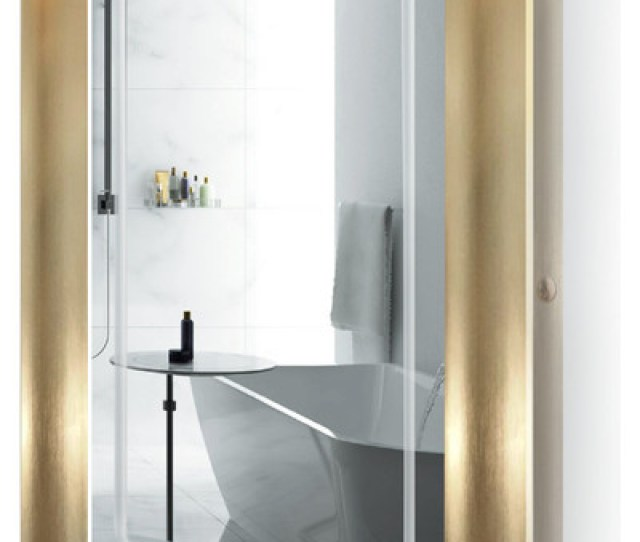 Led Lighted Bathroom Frame Mirror With Defogger Contemporary Bathroom Mirrors By Krugg Reflections