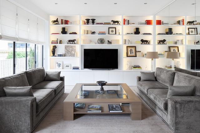 contemporain salle de sejour by cda design
