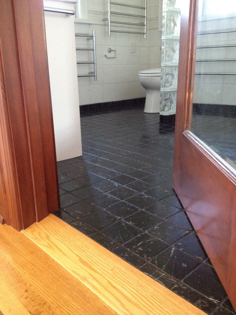 how to connect tile and hardwood floors