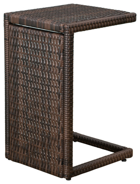 gdf studio forrest outdoor wicker accent table