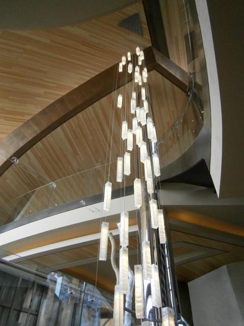 MODERN LIGHTING FOR FOYER MODERN ENTRY STAIRWAY LIGHTS