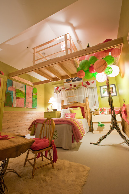 A Treehouse in an Enchanted Forest eclectic-kids