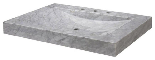 stone vanity top 30 and integrated bowl carrera marble