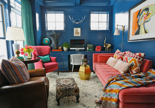 Hinsdale Interior eclectic-home-office