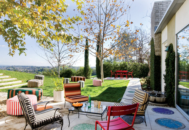 Colorful Outdoor Furniture Eclectic Patio