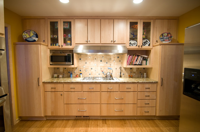 Natural Maple Kitchen - Traditional - Kitchen ... on Natural Maple Cabinets  id=70738
