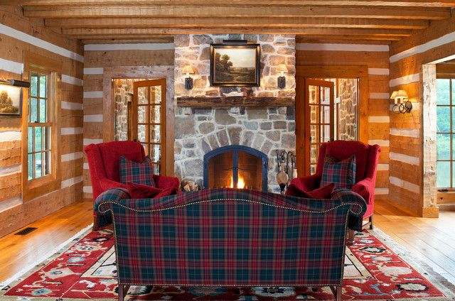 Country Retreat rustic-living-room