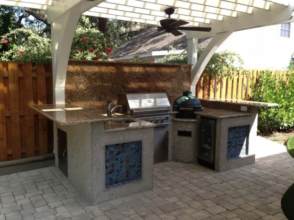 beach outdoor patio kitchen St. Petersburg, FL - Beach Style - Patio - Tampa - by