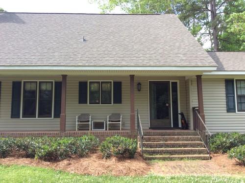Help choosing new vinyl shutter, columns, front, garage ... on Choosing Garage Door Paint Colors  id=50594