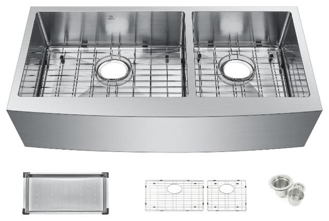 starstar 36 undermount farmhouse apron 60 40 double bowl kitchen sink
