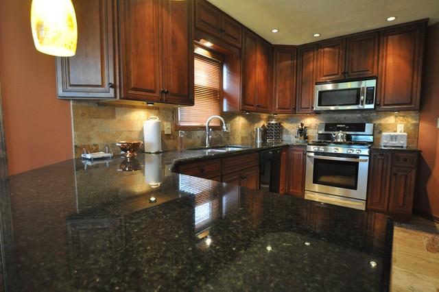Granite Countertops and Tile Backsplash Ideas - Eclectic ... on Kitchen Backsplash Backsplash Ideas For Granite Countertops  id=51472