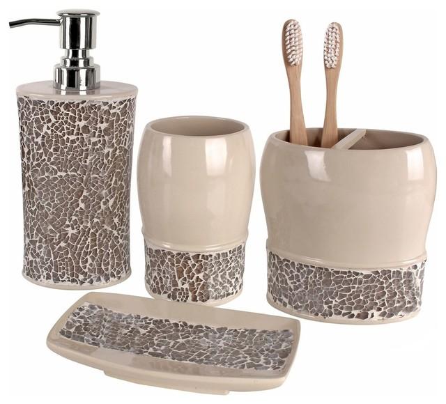 Broccostella 4-Piece Bath Accessory Set - Contemporary ...