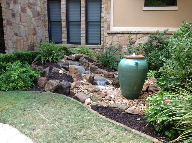 Christa's Front Yard Waterfall and Bubbling Urn Water Feature on Front Yard Waterfall Ideas id=71319