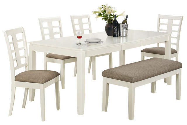 Monarch Specialties 6 Piece Rectangular Dining Room Set