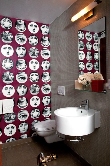 Fun And Funky Powder Room Contemporary Bathroom New York By Maria Brito LLC