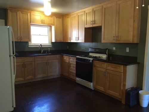 Paint color suggestions maple cabinets with dark counter on What Color Countertops Go With Maple Cabinets  id=16233