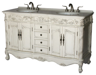 60quot Antique Style Double Sink Bathroom Vanity Victorian