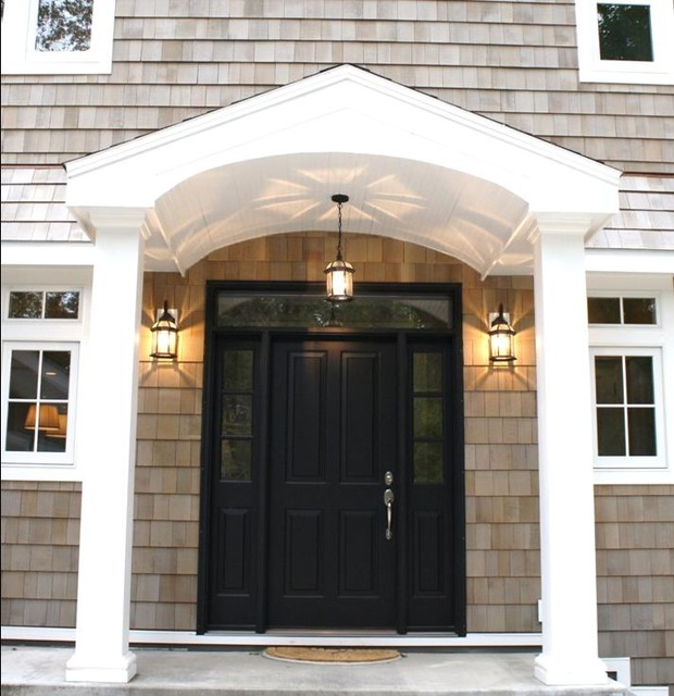 exterior lighting colonial home
