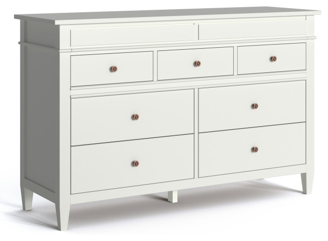 carlton solid wood bedroom dresser white