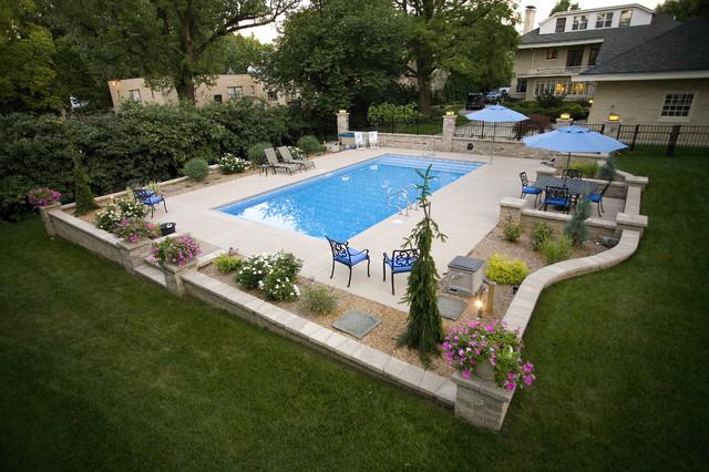 Pool Hardscape - Contemporary - Patio - Cincinnati - by ... on Pool Patio Design id=79003